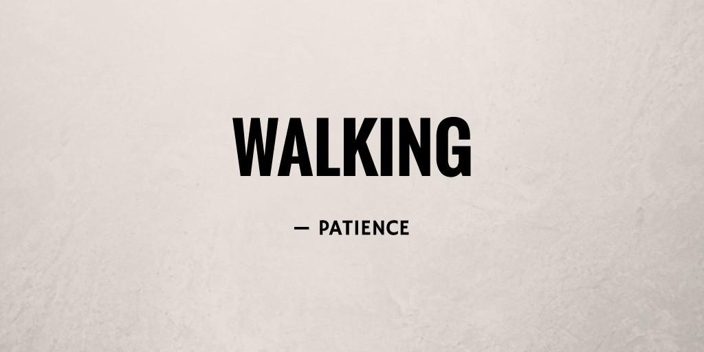 Walking by Patience