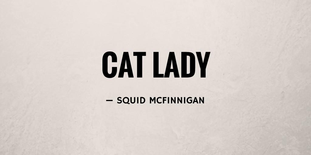 Cat Lady by Squid McFinnigan