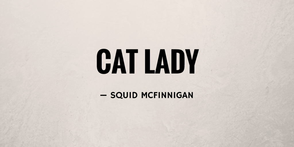 Cat Lady by Squid McFinnigan