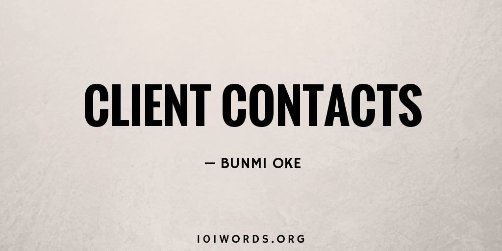 Client Contacts
