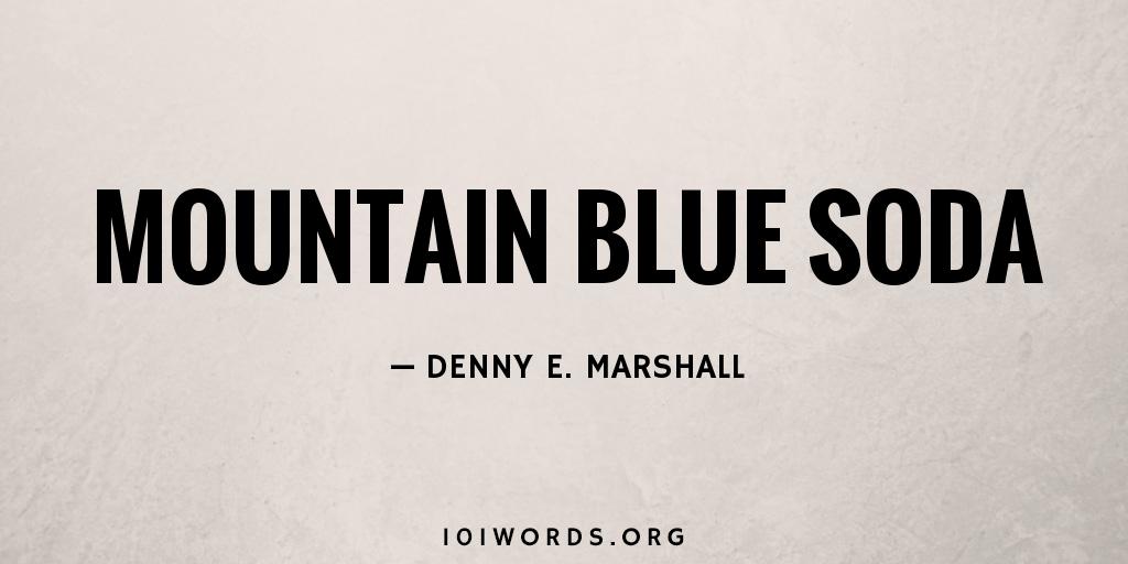 Mountain Blue Soda