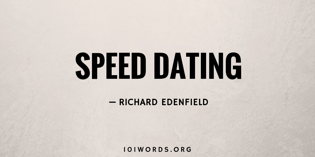 define term speed dating receipt of goods dating method