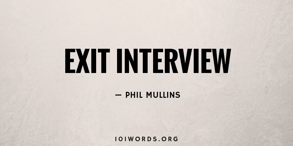 Exit Interview
