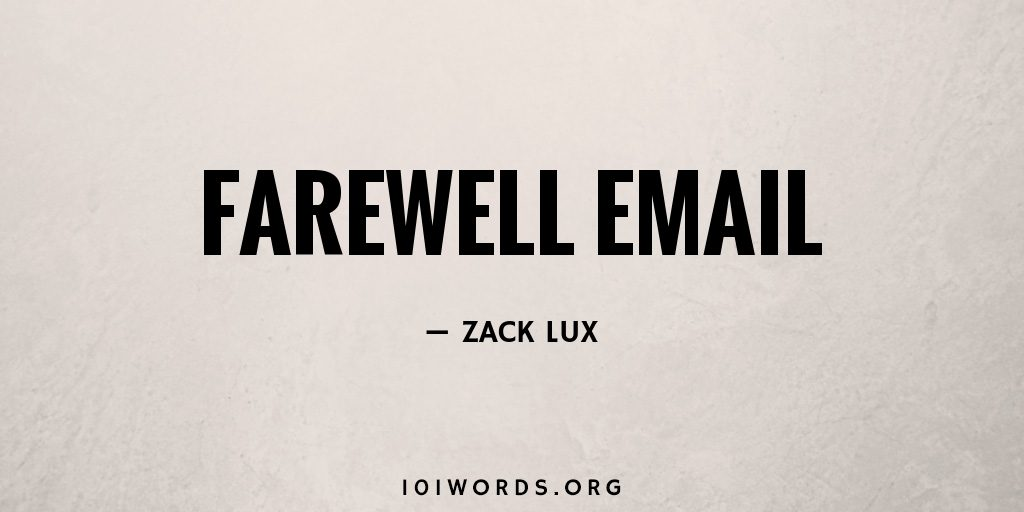 Farewell Email
